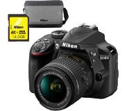 Nikon Appareil photo reflex D3400 + AF-P 18-55mm VR + Sac + Carte SD 16GB