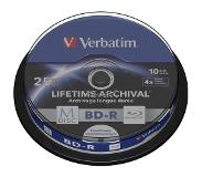 Verbatim 1x10 Verbatim M-Disc BD-R BluRay 25GB 4x Speed inscriptible