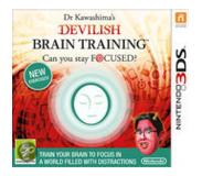 Games Nintendo - Dr Kawashima's Devilish Brain Training: Can you stay focused?, 3DS De base Nintendo 3DS Néerlandais jeu vidéo