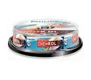 Philips - Cakebox 10 Dvd+R Vierge Double Couche 8,5Gb - 240Min - 8X