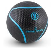 Capital Sports Rotunder 9 Médecine ball 9kg caoutchouc noir