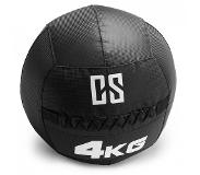 Capital Sports Bravor Medecine ball Wallball PVC Double couture 4kg - noir