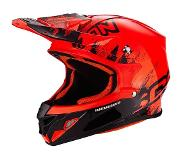 Scorpion CASQUE DE MOTO VX 21 AIR MUDIRT,Noir-Rouge Néon,XL