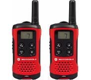 Motorola T40 Walkie Talkie radio bidirectionnelle 8 canaux 0.0125 MHz Noir, Rouge