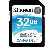 Kingston Canvas Go! mémoire flash 32 Go SDHC Classe 10 UHS-I