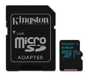 Kingston Canvas Go! mémoire flash 64 Go MicroSDXC Classe 10 UHS-I