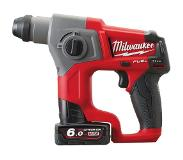 Milwaukee M12 CH-602x Marteau perforateur SDS-plus à batteries 12V Li-Ion set (2x batterie 6.0Ah) dans HD-Box - moteur sans charbon - 1,1J