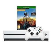 Microsoft Xbox One S 1TB Playeruknown's Battlegrounds Bundle Blanc 1000 Go Wifi