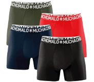 Muchachomalo Boxers Muchachomalo Men Cotton Solid Dark Blue Red (set de 4)-S
