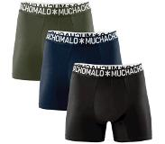 Muchachomalo Boxershort Muchachomalo Men Solid Dark blue Black Army green (Lot de 3)-XL