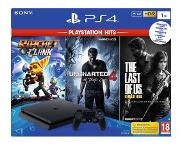 Sony PS4 Slim 1 TB Noir + Ratchet & Clank + Uncharted 4 + The Last of Us