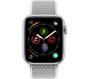 Apple Watch Series 4 44 mm Bracelet sportif Argent Aluminium/Gris Nylon