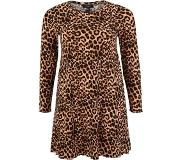 New Look Curves Robe 'Leopard Soft Touch'