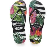 Havaianas - Slim Tropical Floral Black/Black/Imperial Palace - Femme - Taille : 39/40