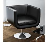 VidaXL Chaise de bar Noir Similicuir