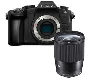 Panasonic LUMIX DMC-G80 zwart + Sigma 16mm F/1.4 DC DN Contemporary
