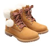 Timberland - 6in Premium w/Shearling Collar Wheat - Femme - Taille : 9 US