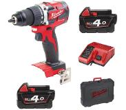 Milwaukee Perceuse Visseuse compacte Brushless + 2 batteries18V 4Ah Li-Ion M18CBLDD402C Milwaukee