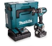 Makita DHP484RTJ Perceuse visseuse à percussion à batteries 18V Li-Ion set (2x batterie 5,0Ah) dans MAKPAC - moteur sans charbon