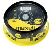 Maxell CD-R 80 52X speed Spindle 25 pièces