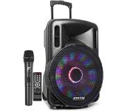 "Fenton FT15LED Enceinte sono active 15"" 800W Bluetooth USB SD AUX + 1 micro UHF"