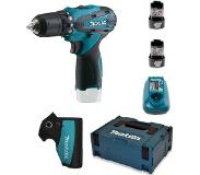 Makita DF330DWJ - Set perceuse visseuse Li-Ion 10,8V (2x batterie 1.3Ah) dans MAKPAC - 24Nm