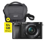Sony A6000 zwart + 16-50mm Travel Kit