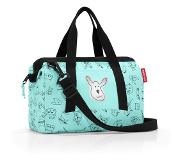 Reisenthel Allrounder XS Kids Cats and Dogs Sac de Sport Enfant, 27 cm, 5 liters, Turquoise (Mint)