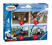 Ravensburger Ravensburger- Thomas and Friends Thomas & Friends – Puzzle de 4 (12, 16, 20, 24 pièces) pour Enfants à partir de 3 Ans, 6937, 0