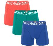 Muchachomalo Boxers Muchachomalo Men Solid Blue Fresh Green Coral Red (set de 3)-XL