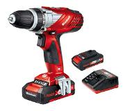 Einhell TE-CD 18 Li E Kit - Set perceuse visseuse Li-Ion 18V (2x batterie 2.0Ah) dans mallette - 47Nm