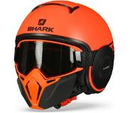 Shark Casque moto STREET DRAK NEON SERIE MAT OKK, Orange, XL