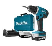 Makita DF347DWE Perceuse visseuse à batteries 14.4V Li-Ion set (2x batterie 1,3Ah) dans coffret