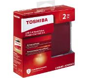 Toshiba Disque dur externe 2 TB Canvio Advance Rouge