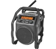 Perfectpro UBOX 200R - Radio de chantier FM RDS - Bluetooth - Aux-in - Batterie et secteur (batteries incluses)