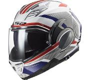 LS2 Casque moto FF900 VALIANT II REVO WHITE RED BLUE, Blanc/Bleu/Rouge, XS