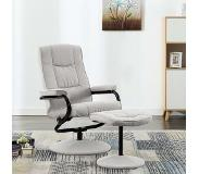 VidaXL Fauteuil inclinable avec repose-pied Gris clair Tissu