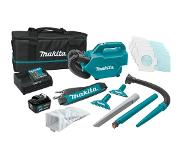 Makita CL121DSM - Set aspirateur Li-Ion 12V (1x batterie 4,0Ah) - 1300l/min - 0,5L