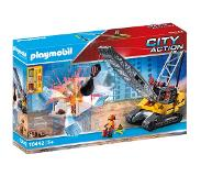 Playmobil City Action Dragline Avec Mur De Construction 70442