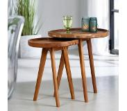 Casa ARIZONA Table d'appoint brun H 55 cm; Ø 50 cm