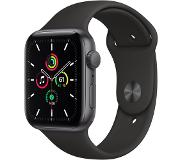 Apple Watch SE 44 mm Aluminium Gris Sidéral Bracelet Sport Noir