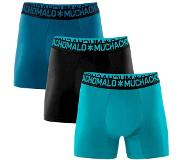 Muchachomalo Boxer Muchachomalo Men Solid Light Blue Black Blue (Lot de 3)-XL