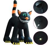 VidaXL Chat noir gonflable de Halloween avec LED XXL 6 m
