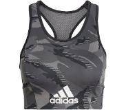 Adidas AEROREADY Designed 2 Move Camouflage-Print Bra Top | 2XS