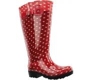 Wide Wellies Bottes de Pluie Wide Wellies Polka Dots Rouge XL-Taille 42