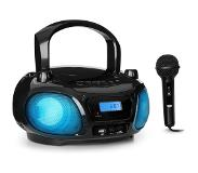 Auna Roadie Sing Boombox lecteur CD MP3 radio FM USB Bluetooth + micro - noir