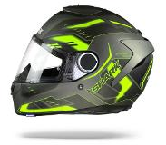 Shark Casque moto SPARTAN 1.2 ANTHEON MAT AYK, Gris/Jaune, L