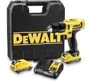 DeWalt DCD710D2 - Set perceuse visseuse Li-Ion XR 10.8V (2x batterie 2.0Ah) dans mallette - 24Nm