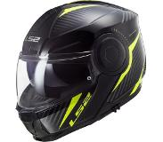 LS2 Casque moto FF902 SCOPE SKID BLACK H-V YELLOW, Noir/Jaune, S