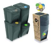 Prosperplast SET DE 4 CUBES 2X35L RECYCLAGE ET PLASTIQUE 2X25L PROSPERPLAST SORTIBOX COULEUR EN GREY multicolored taille unique